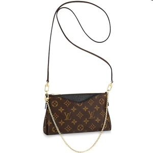 $FIRM NWT/in Box Auth Louis Vuitton Pallas Clutch